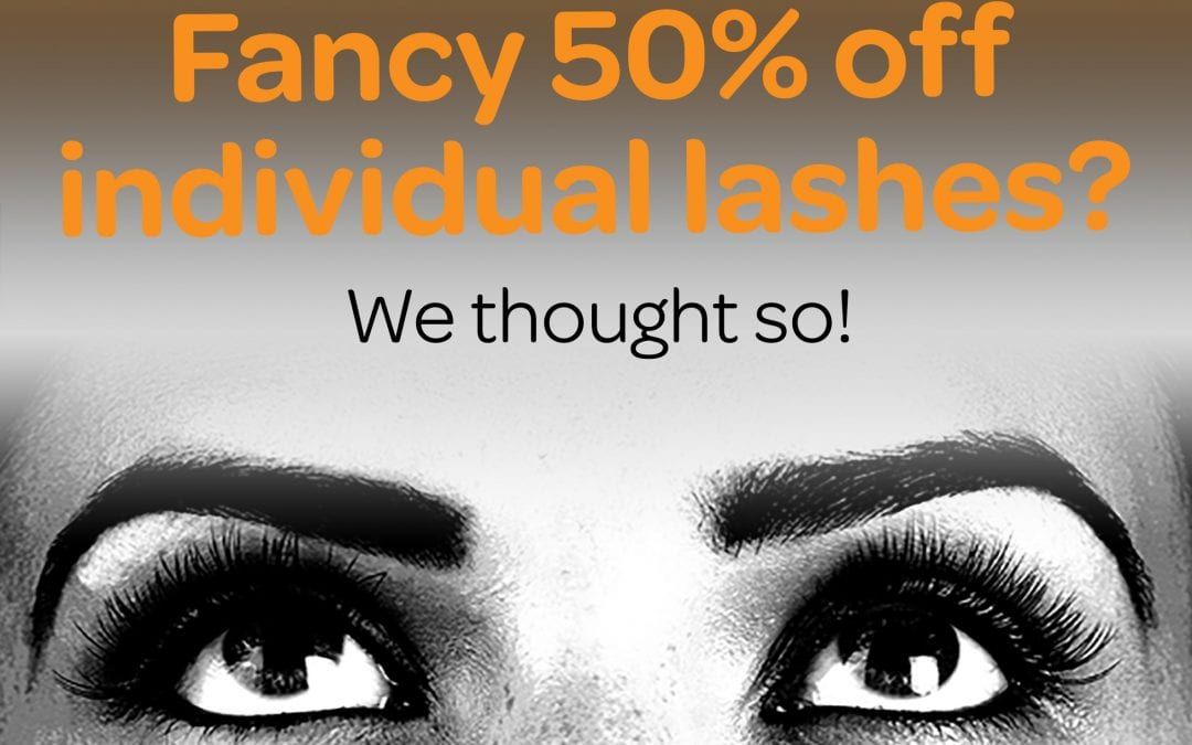 Get Fabulash with half price lashes throughout June!