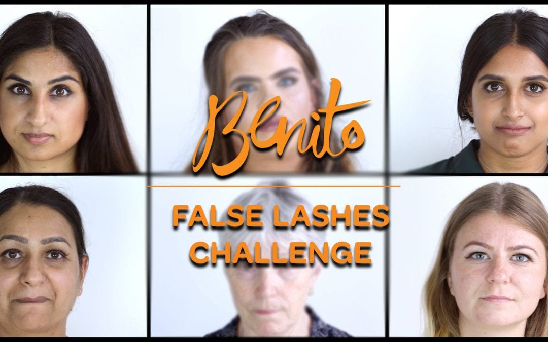 Go behind the scenes at our exclusive Strip Lash Challenge