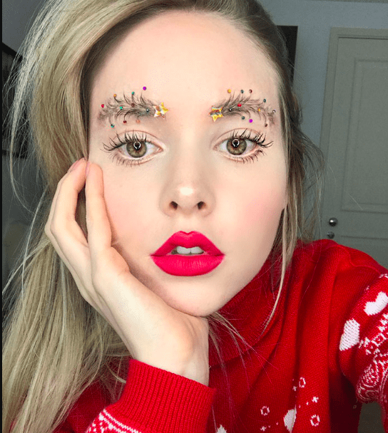 Get in the festive spirit with this new eyebrow trend