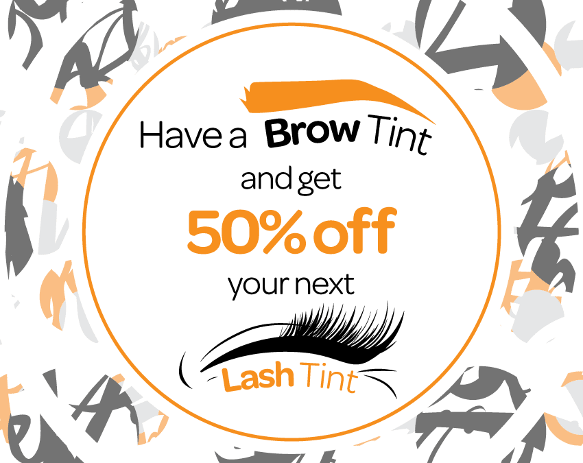 Get your lashes spring ready with 50% off a lash tint!
